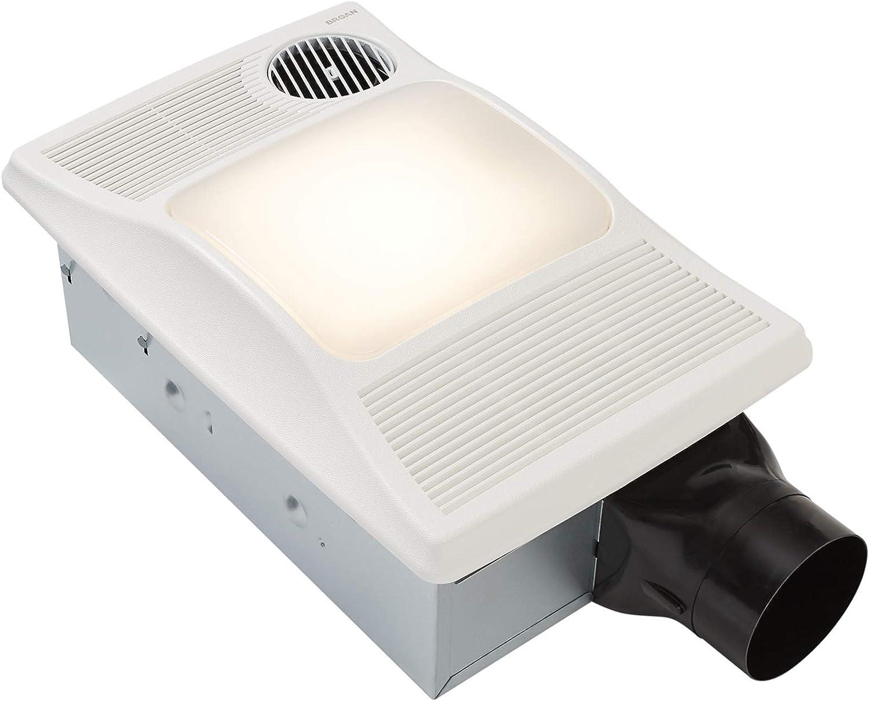 Amazon Com Broan Nutone 100hl Directionally Adjustable Bathroom Heater Fan And Light Combo 2 0 Sones 100 Cfm White Home Improvement