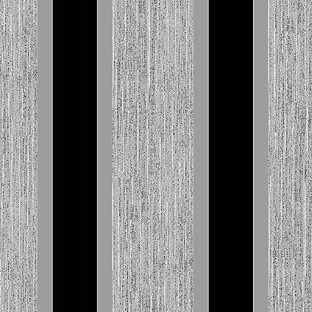 Direct Striped Pattern Metallic Stripe Embossed Textured Blown Vinyl Wallpaper Black Silver E87519