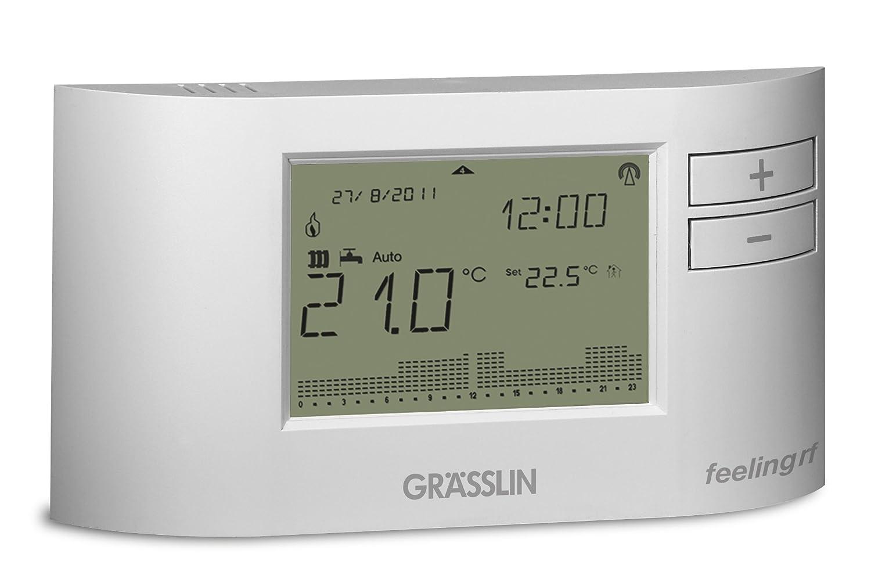 Grässlin Feeling D101 RF Termostato Ambiéntale Digital, Blanco: Amazon.es: Industria, empresas y ciencia
