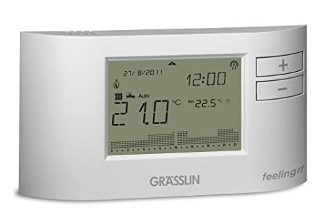 Grässlin Feeling D101 RF Termostato Ambiéntale Digital, Blanco