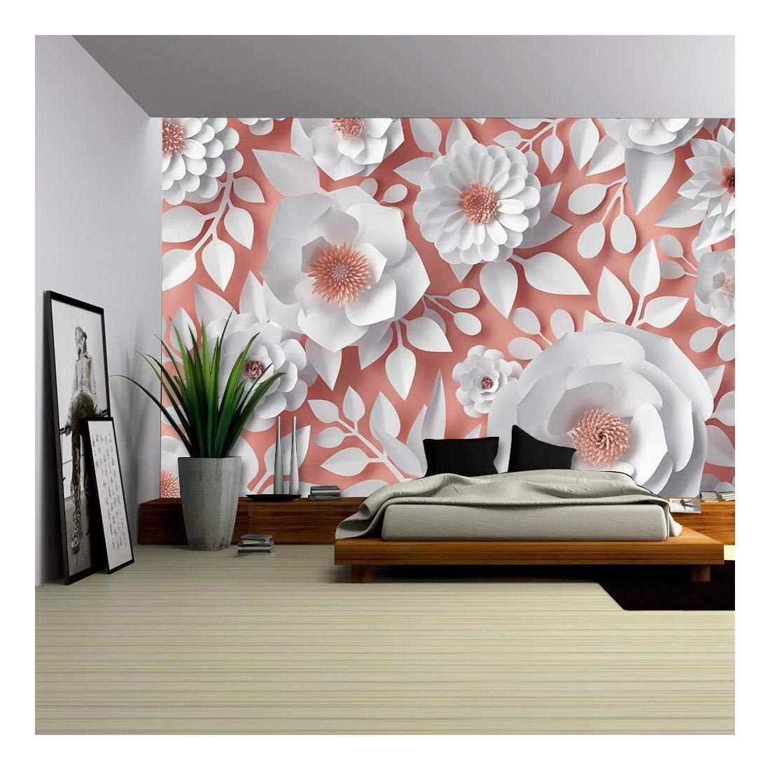 White Flowers Bridal Bouquet Vinyl Wall Mural Wall Murals Wall26
