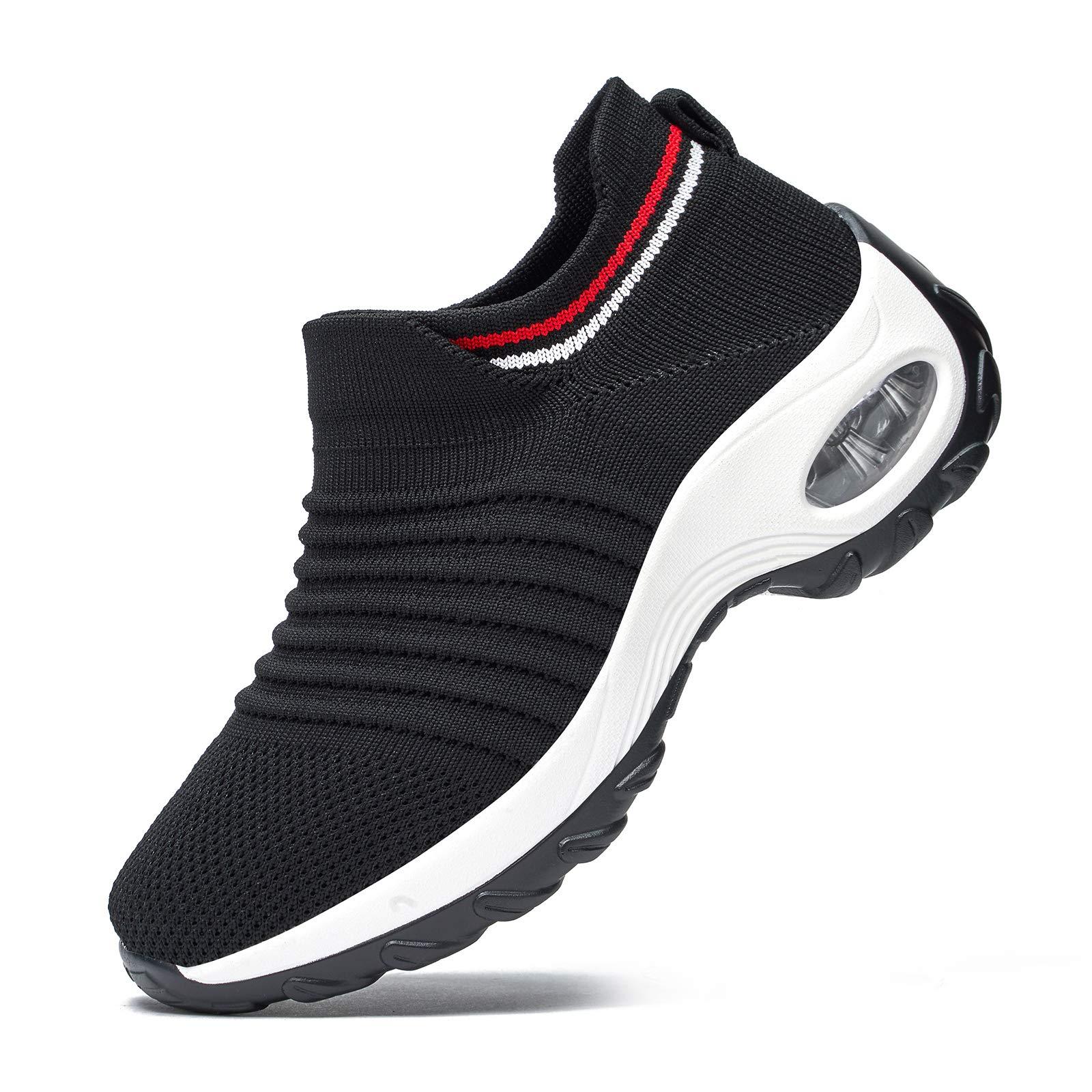 RDTRAVEL Women Walking Shoes Sock Sneakers-Mesh Slip On Air Cushion Fashion Sneakers