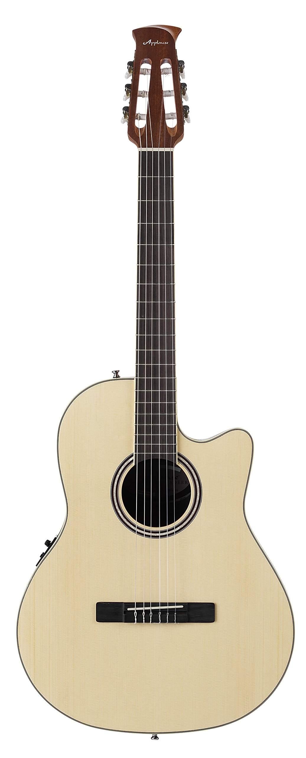 Ovation Applause Balladeer AB24CII-SPR Mid Depth Classical Guitar, Natural Spruce by Ovation