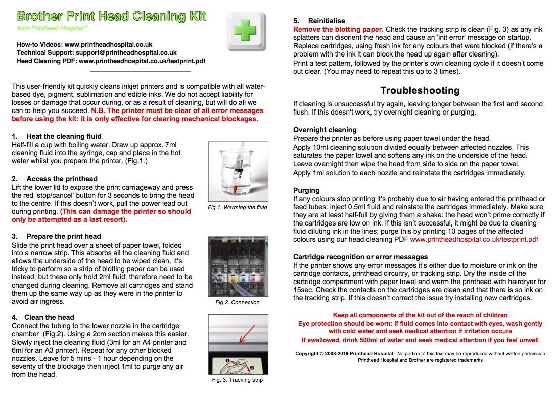 Print Head Cleaner for Brother Printers - 5oz 150ml: Amazon