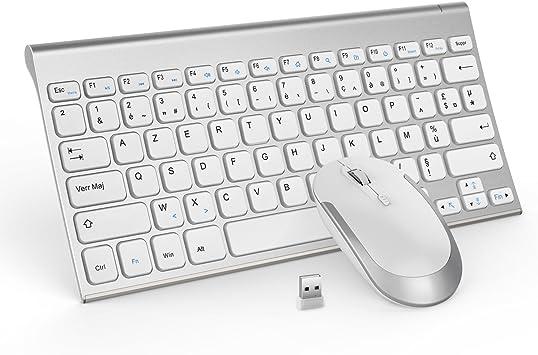 Jelly Comb 2.4G Clavier Sans Fil avec USB, 105 Touches Anti