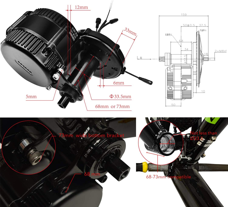 EU No Tax Bafang 36V250W BBS01B mid motore motorizzato kit kit display LCD motorizzato kit ebike