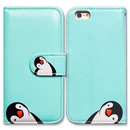 Bfun Packing I Phone 5/5 S/I Phone Se Case,Bcov Black White Penguin Wallet Leather Cover Case For I Phone 5 5 S Se by Bcov