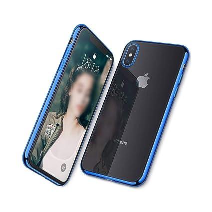 iphone xs chrome blue case