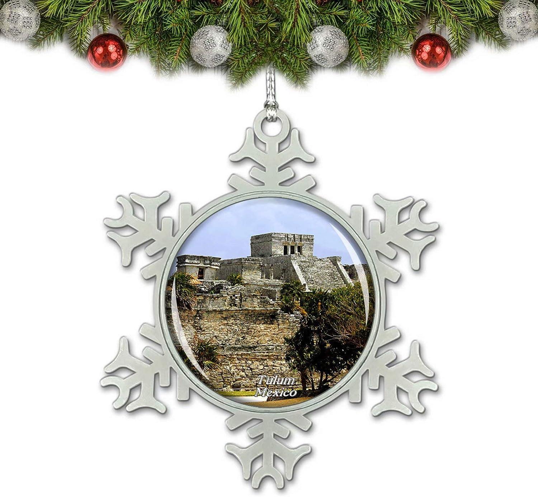 Umsufa Mexico Tulum Mayan Ruins Cancun .png Christmas Ornament Tree Decoration Crystal Metal Souvenir Gift