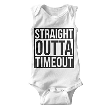 b98a86f065e689 Unisex Tank Top Straight Outta Timeout Baby Onesies Bodysuit Jumpsuit   Clothing