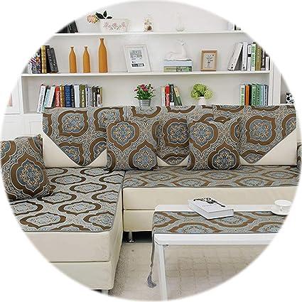 Amazon.com: HANBINGPO Classic Style Khaki Chenille Floral ...