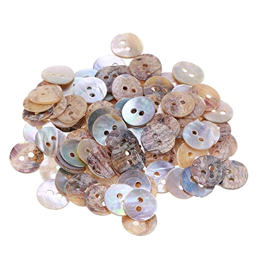 mikolot 100pcs 10 mm plástico redondo Shell accesorios de ...