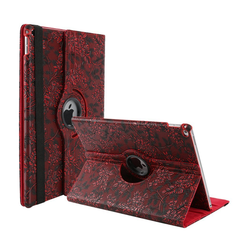 30off Ipad 3 Case Coverelelcfan 360 Degree Rotating Stand Pu Leather For 2 4