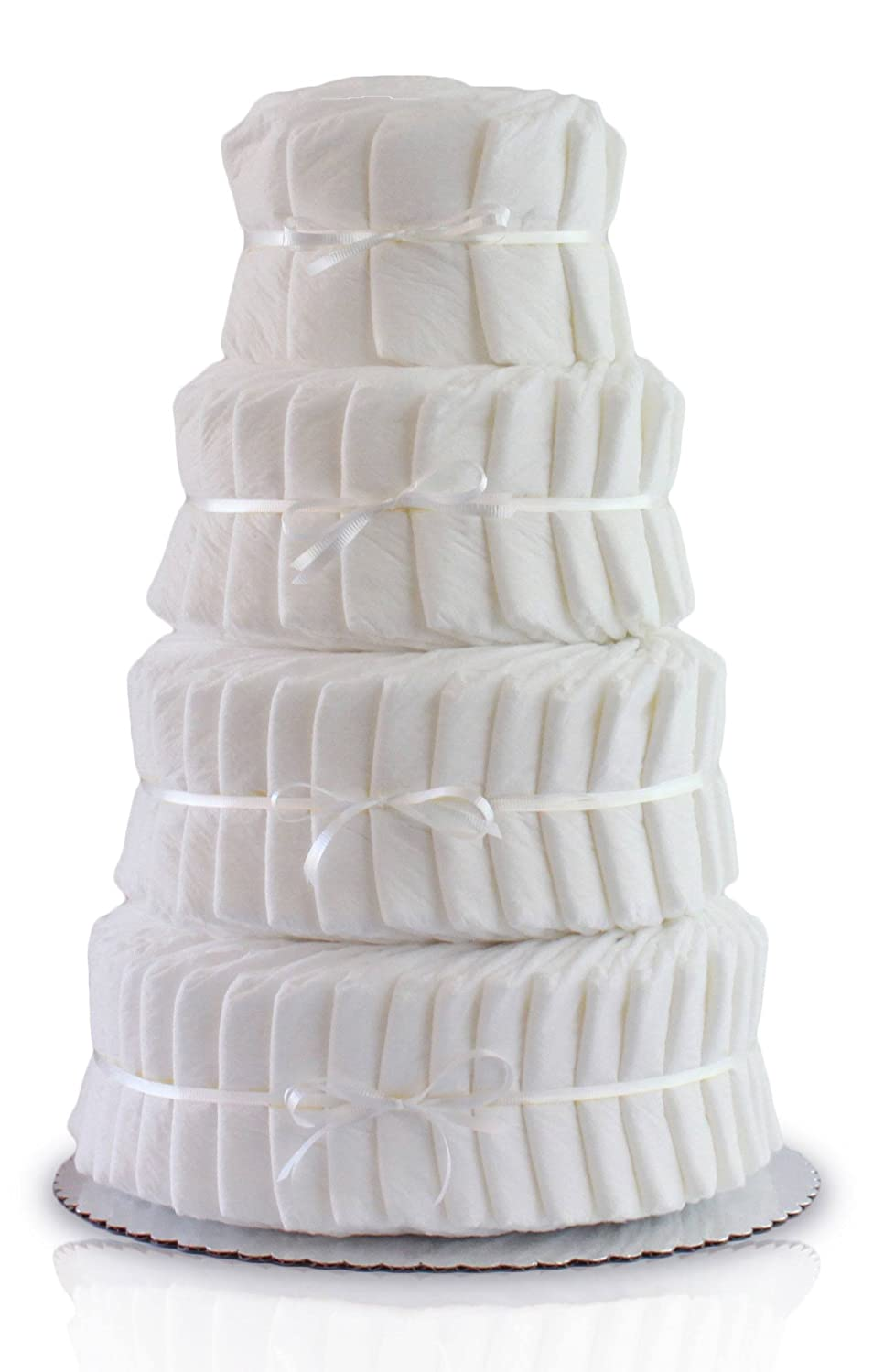 4 Layer Decorate It Yourself Diaper Cake Rubber Ducky 100plain4t