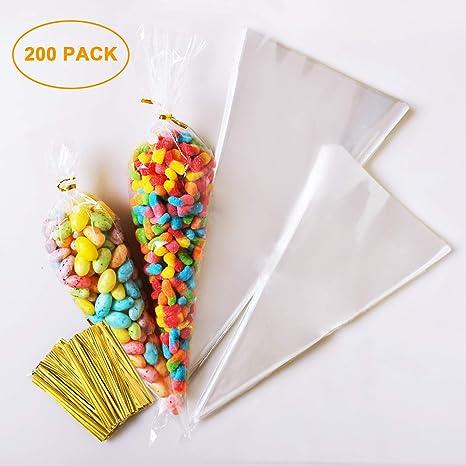 AUSYDE - 100 Bolsas para Caramelos, Bolsas de plástico ...