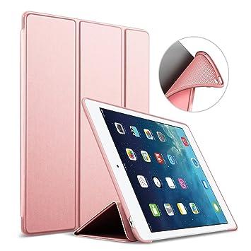iPad Air 1 Funda, GOOJODOQ Ligero Smart Case Cover con Magnetic Auto Sleep/Wake Función Piel Sintética a Prueba de Golpes Suave Silicona TPU Funda ...