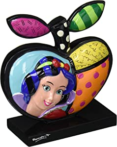 """Enesco Disney by Britto Seven Dwarfs"""" Snow White Apple Stone Resin Figurine, 5"""", Multicolor"""