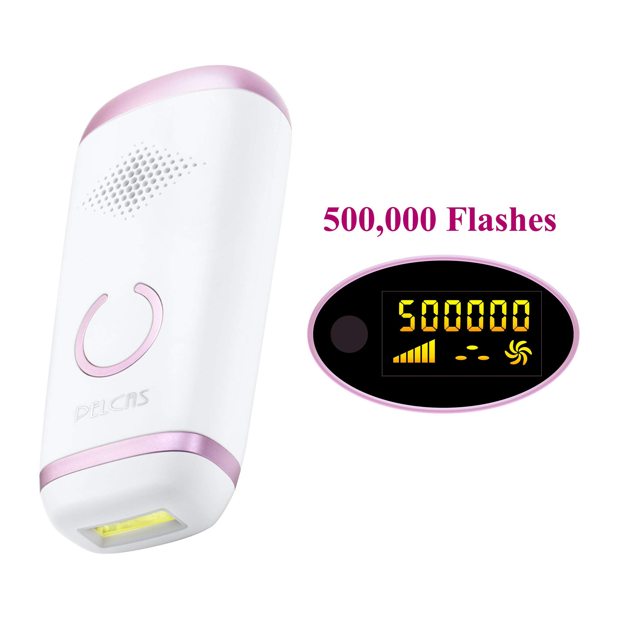 Body Permanent IPL Hair Removal System for Women, PELCAS 500,000 Flashes Painless Hair Removal Device Permanent with LCD Screen for Home Use Professional