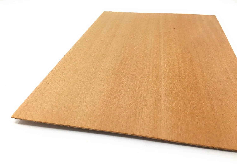 Starkfurnier S/ägefurnier in den Holzarten Ahorn Maple Eiche L/ärche Fichte Nussbaum Geeignet f/ür viele Furnierarbeiten wie Modellbau; Restauration Mahagoni 2,4mm