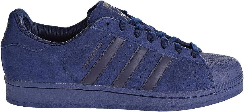 cráneo Suave Centelleo  Amazon.com: adidas Bb8122 Superstar Suede - Zapatillas para hombre, color azul  marino, 12.5 M US: Shoes