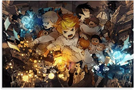 Amazon Com Vnbn Emma The Promised Neverland 31 Poster Canvas Wall Art Japanese Anime Posters For Room Aesthetic Home Decor 16x24inch 40x60cm Posters Prints