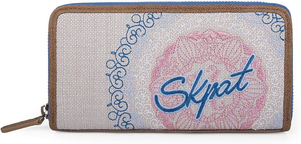 Skpa T Portefeuille Dessin Imprime Skpa T Color Bleu Skpa T