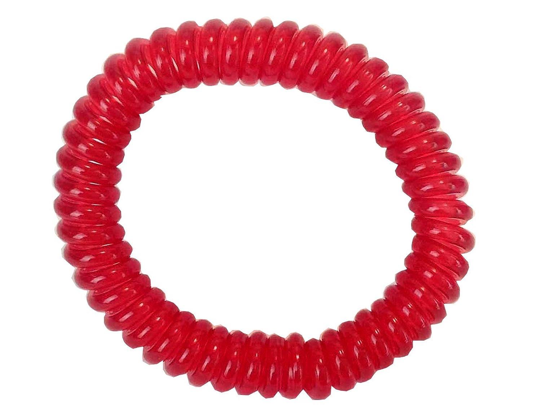 Springz Chewable Bracelet Fiddle Bracelet Clear Red