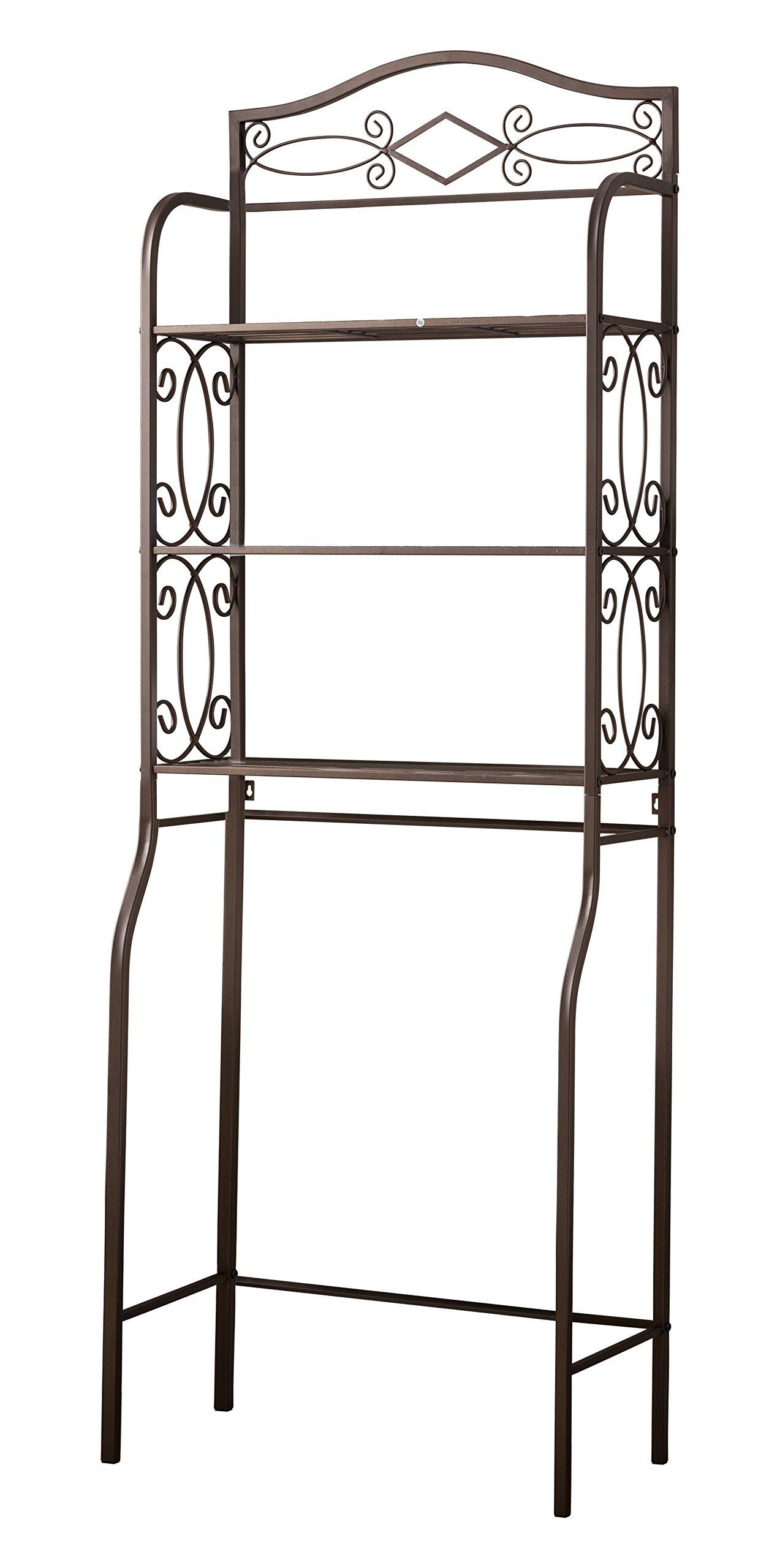 kings brand over the toilet storage etagere bathroom rack shelves organizer 802319021482 ebay. Black Bedroom Furniture Sets. Home Design Ideas