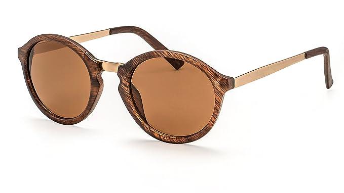 Filtral Große Runde Sonnenbrille / Trendige Retro-Sonnenbrille mit goldenen Bügeln und Schlüssellochsteg F3001118 k0f2GIJ