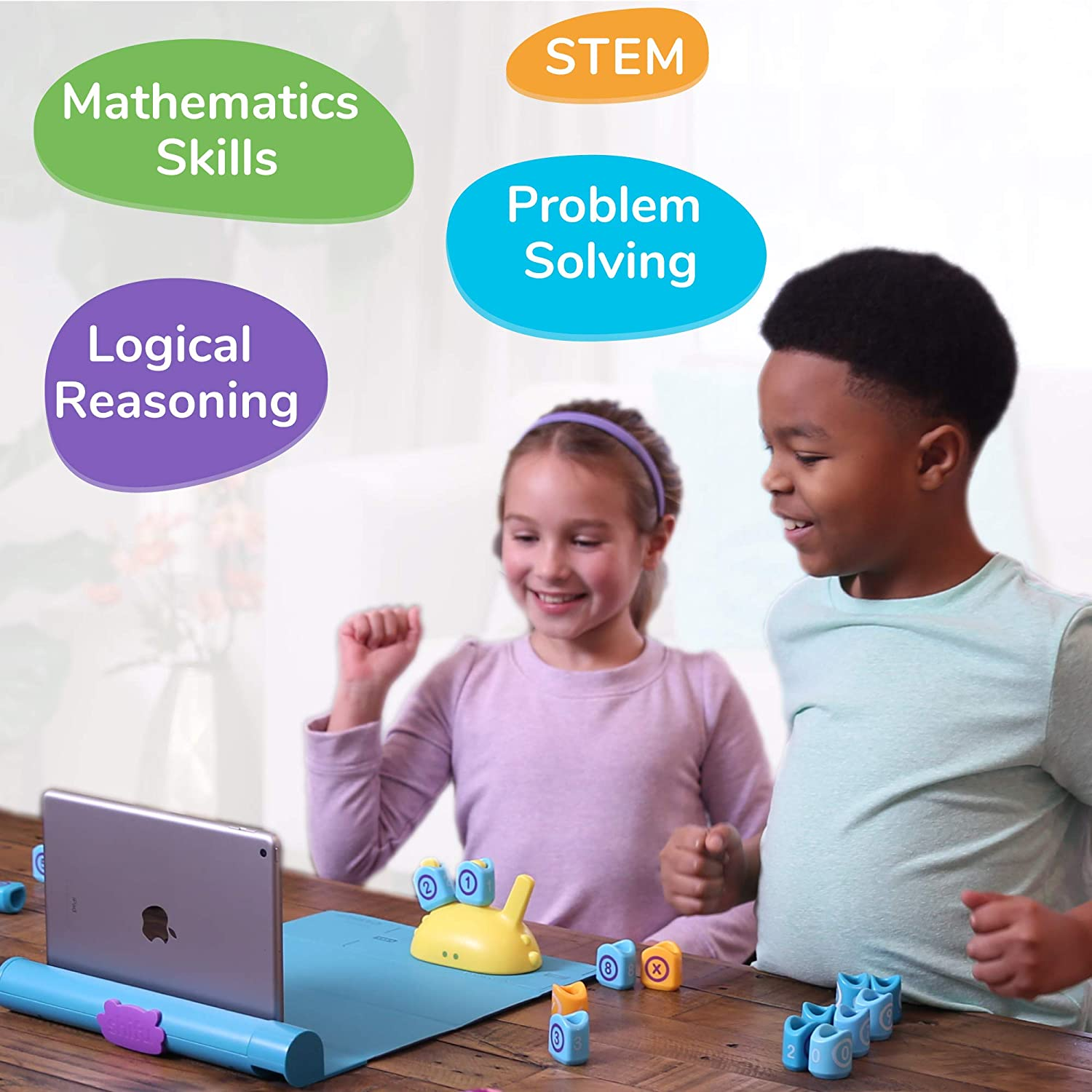 Cool Math Games for Kids Ages 4 to 10 Years iPad // iPhone Required Educational STEM Toy for Boys /& Girls Math Kit Shifu Plugo Count