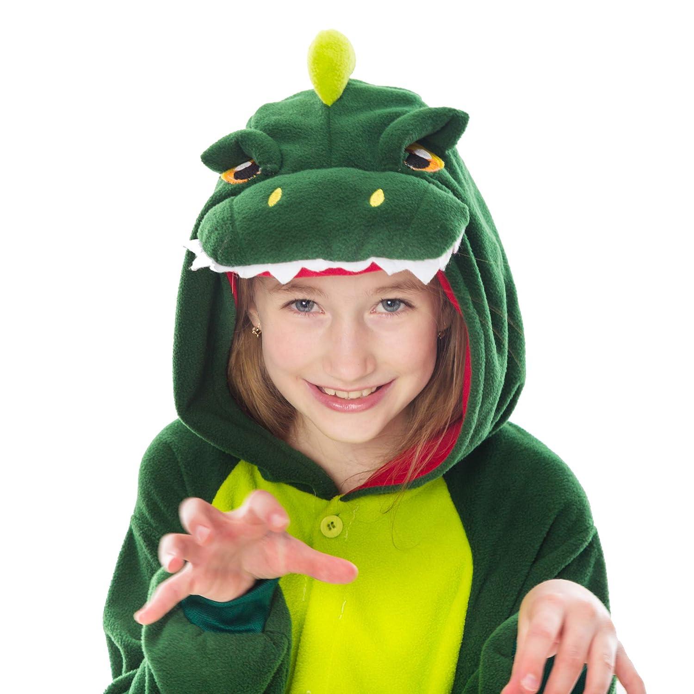 Spooktacular Creations Unisex Child Pajama Plush Onesie One Piece Dinosaur Animal Costume