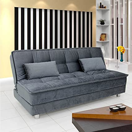 FabHomeDecor Gaiety Three Seater Sofa cum Bed (Grey)