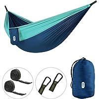 Zenph Hamaca Ultraligera para Camping, Portátil Hamaca 300kg de Capacidad de Carga (270X140 cm) Estilo paracaídas de Nylon