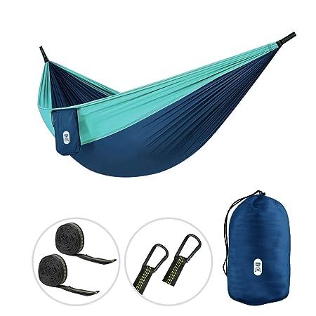 Zenph Camping Hammock – Lightweight Nylon Portable Single Hammock, Best Parachute Hammock for Backpacking, Camping, Travel, Beach, Yard. 106 L x 55 W