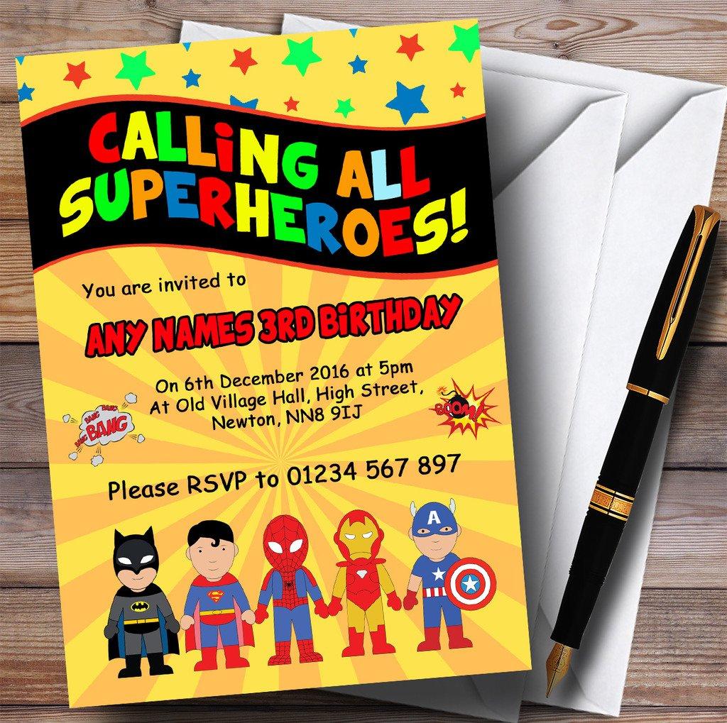 Amarillo superhéroe para niños fiesta de cumpleaños ...