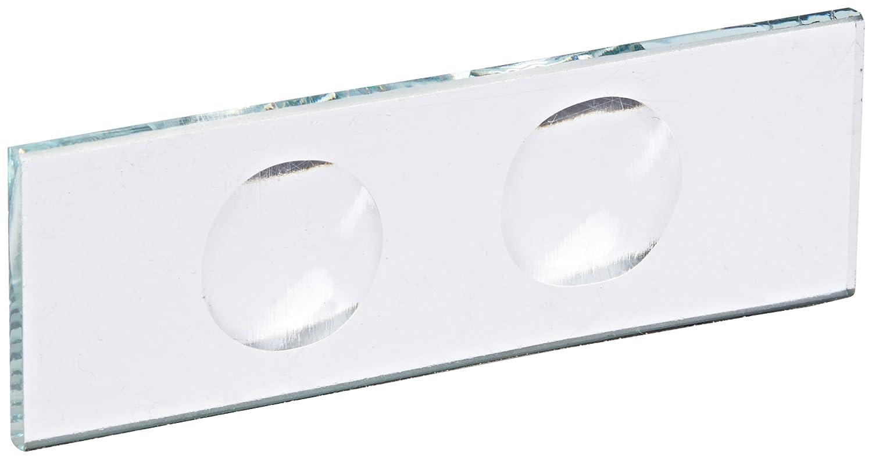 United Scientific CSTK02 Glass Microscope Slide, 2 Concavities (Pack of 12) United Scientific Supplies