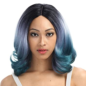 Amazon Com Sleek 18 Shoulder Length V Cut Synthetic Wigs With