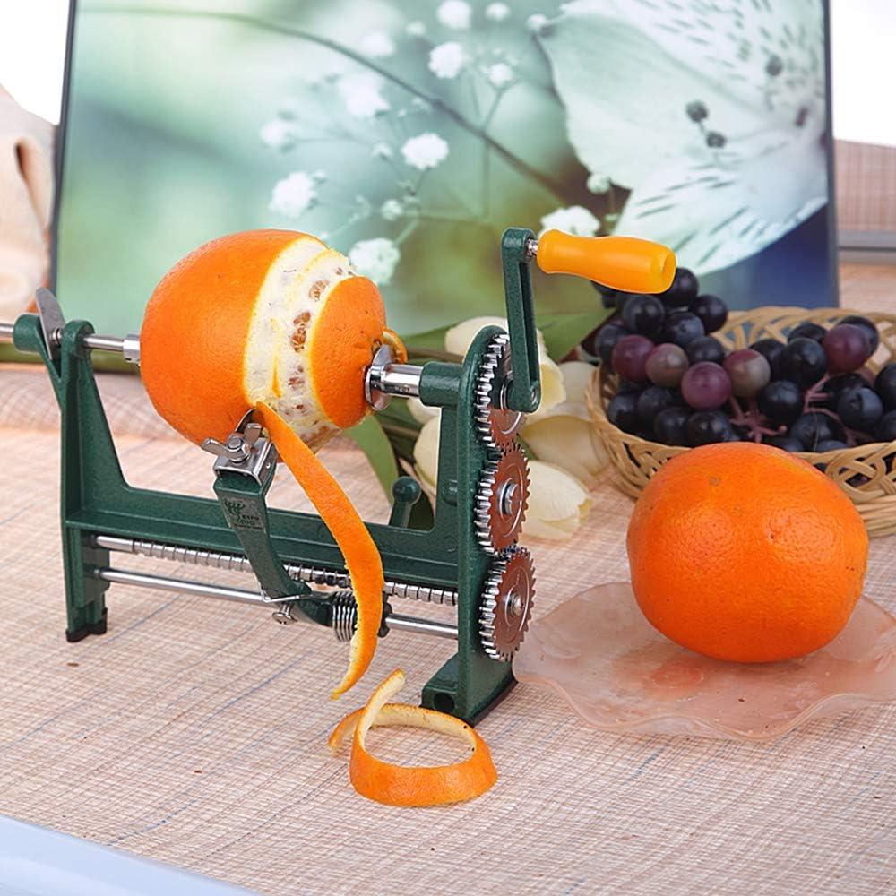 Manivela profesional Limón, naranja Peeler, pequeño manual, máquina de pelar naranjas, acero inoxidable Práctico, manual, herramienta de cocina para el hogar