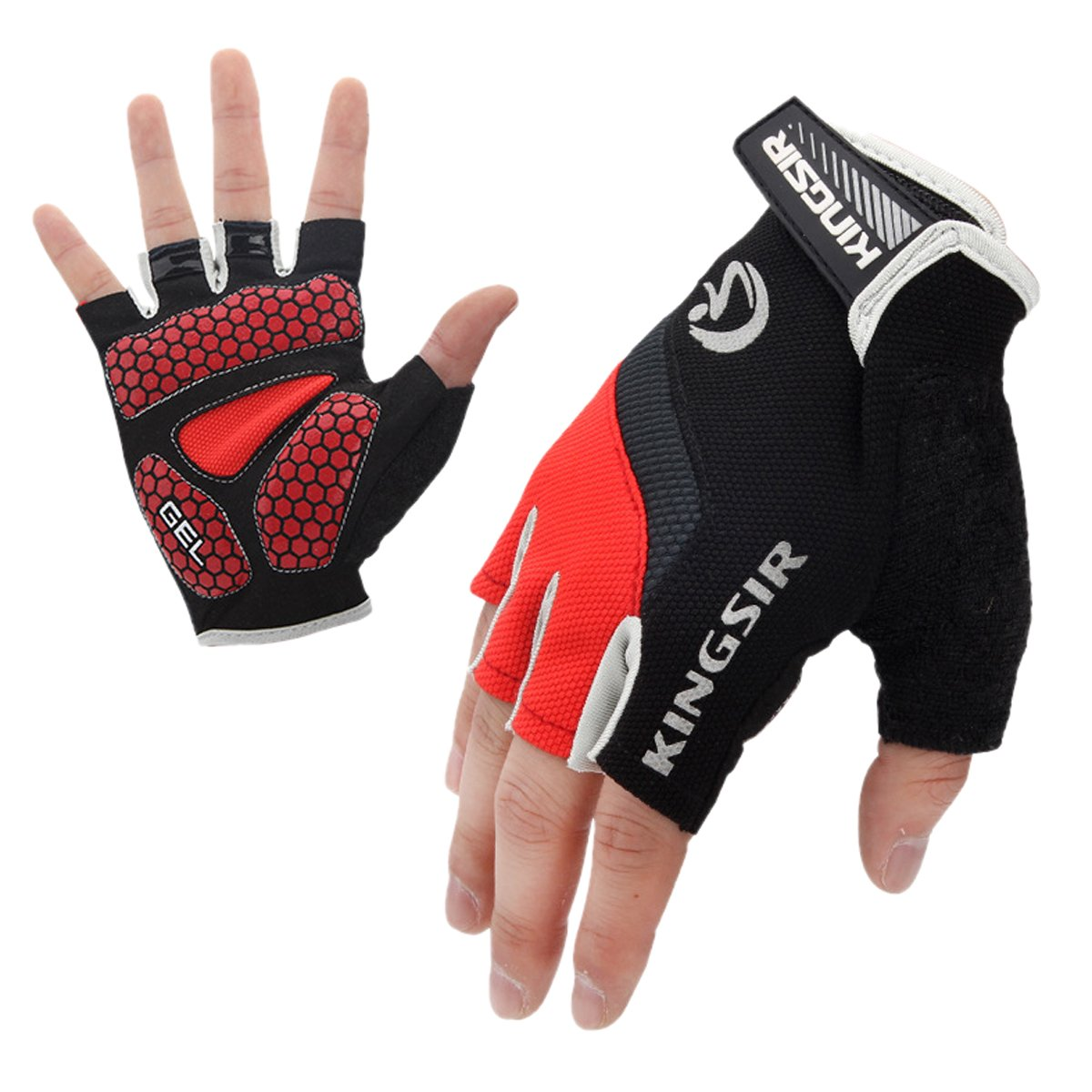 Cycling Mountain Bike Gloves Road Racing Bicycle Gloves Light Silicone Gel Pad Biking Half Finger Gloves AHATECH