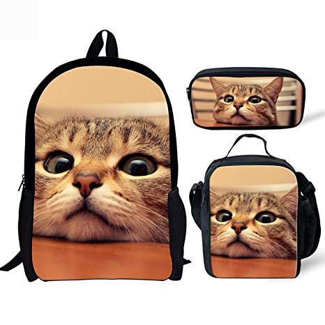 5c686441317 Image Unavailable. Image not available for. Color  HUGS IDEA Cat Kitten Backpack  Cute ...