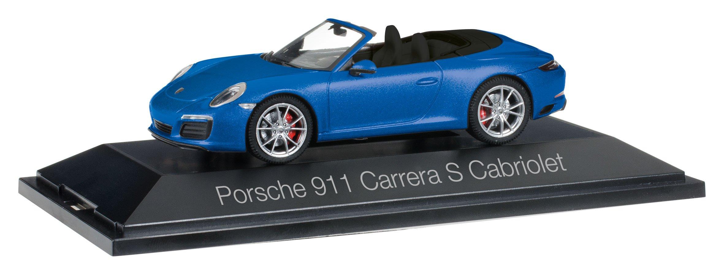 HERPA 70997 ''Porsche 911 Carrera S Cabriolet 991 Ii Model Set, Metallic Sapphire Blue