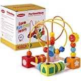 Lynncare Baby Toys for 1 year old Bead Maze Wooden Educational toddlers toys for 2 3 4-5 6 year old boys girls children