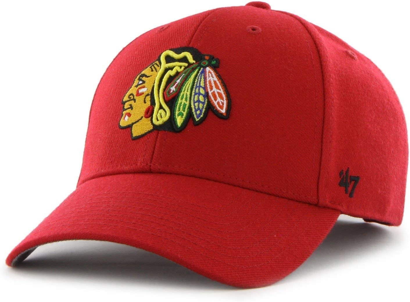 MVP Chicago Blackhawks red 47 Brand Adjustable Cap