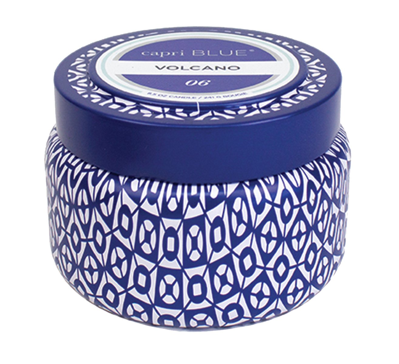"Capri Blue Volcano Printed Travel Tin Candle, 8.5 Ounce - 35 hours of burn time Measures 3"" x 3.25"" 8.5 oz. Weight - living-room-decor, living-room, candles - 71uimoQSW%2BL -"