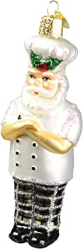 Old World Christmas Santa Chef Glass Blown Ornament