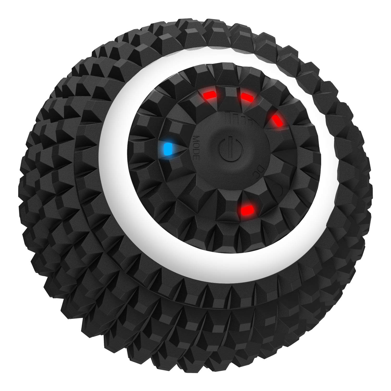 Deep Tissue Electric 4 Speed Washable Vibrating Massage Ball - Training Yoga Fitness Foam Roller, Physical Therapy Ball for Muscle Myofascial Recovery, Leg Neck Arm Body Back Massage Roller (Black) by Cabanana