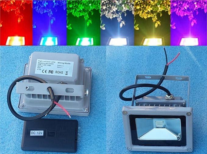 Trendmart Dc 12v 10w RGB Led Flood Light Outdoor Landscape Lamp ...
