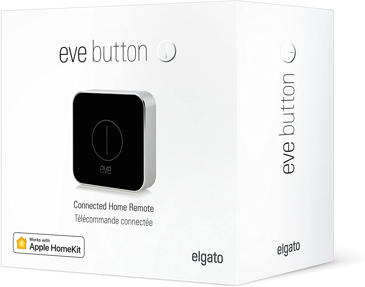 portable Eve Button Elgato 10EAU9901 Apple HomeKit easily command accessories and scenes Connected Home Remote compact Bluetooth Low Energy