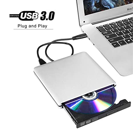 USB 3.0 External DVD Drives,VikTck Portable Ultra-Thin CD/DVD-RW
