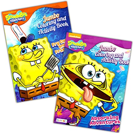 Amazon.com: Spongebob Squarepants Coloring Book Set (2 Coloring ...